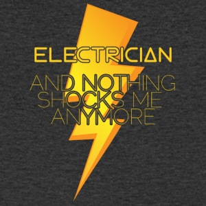 Electrician: Electrician and nothing shocks me - Men's V-Neck T-Shirt