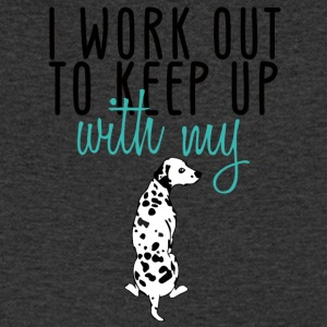 Hund / Dalmatiner: I Work Out To Keep Up With My - Männer T-Shirt mit V-Ausschnitt