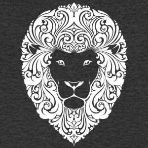 lion with ornament hairs 2 - Men's V-Neck T-Shirt