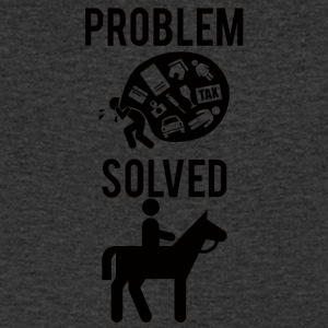 Horse / farm: Problem Solved - Men's V-Neck T-Shirt