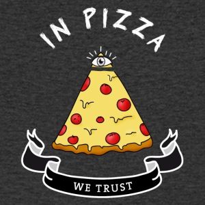 Pizza Illuminati Funny All Seeing Eye Food Humor - Männer T-Shirt mit V-Ausschnitt