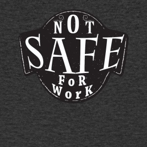 NSFW Not Safe for Work shirt - Mannen T-shirt met V-hals