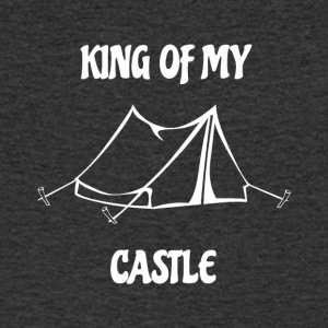 King of my Castle tent camping - Men's V-Neck T-Shirt