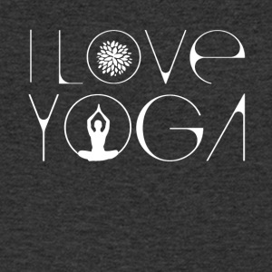 Love Yoga Buddha Lotus meditation energy breath sha - Men's V-Neck T-Shirt