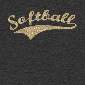 softbal v1 - Mannen T-shirt met V-hals