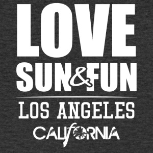 Love, Sun & Fun · Los Angeles · Kalifornien - T-shirt med v-ringning herr