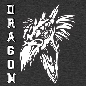 screaming dragon white - Men's V-Neck T-Shirt