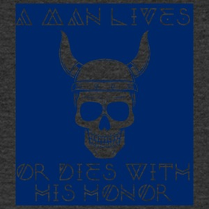 Wikinger: A Man Lives Or Dies With His Honor - Männer T-Shirt mit V-Ausschnitt