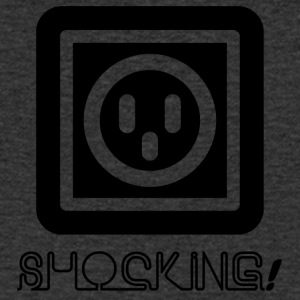 Elektriciens: Shocking! - Mannen T-shirt met V-hals