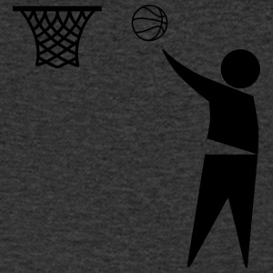 basketbal Trash - Mannen T-shirt met V-hals