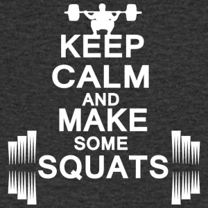 keep calm and make some squats - Männer T-Shirt mit V-Ausschnitt