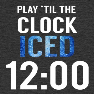 Hockey: Play'til the clock iced 12:00 - Men's V-Neck T-Shirt