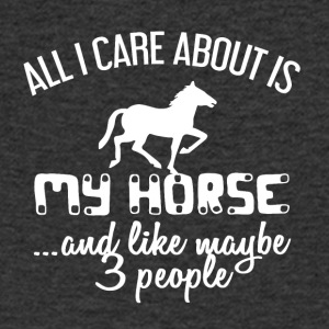 I'm interested only my HORSE - Men's V-Neck T-Shirt