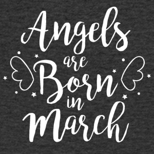Angels are born in March - Men's V-Neck T-Shirt