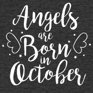 Angels are born in October - Men's V-Neck T-Shirt