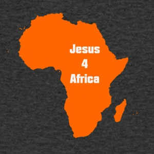 jesus for Afrika - T-skjorte med V-utsnitt for menn