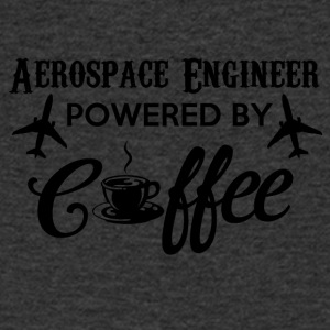 AEROSPACE ENGINEER POWERED BY KAFFE - Herre T-shirt med V-udskæring