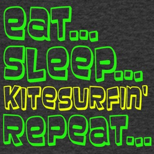 EAT SLEEP KITESURFING REPEAT - T-shirt Homme col V
