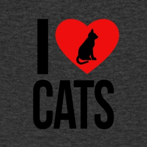 I LOVE CATS - T-skjorte med V-utsnitt for menn