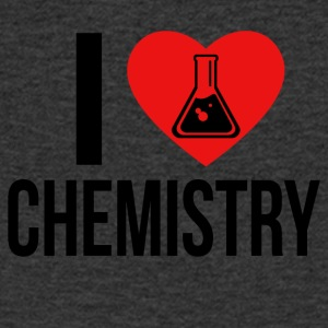 I LOVE CHEMISTRY BLACK - Men's V-Neck T-Shirt