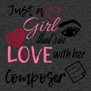 Just a girl that's in love with her composer - Männer T-Shirt mit V-Ausschnitt
