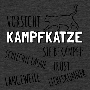 Caution Kampfkatze - Men's V-Neck T-Shirt
