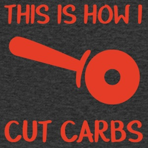 Firemen: This is how i cut carbs - Men's V-Neck T-Shirt