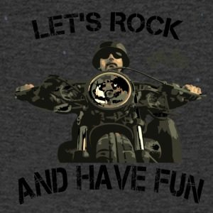 Lets rock and have fun! - Männer T-Shirt mit V-Ausschnitt