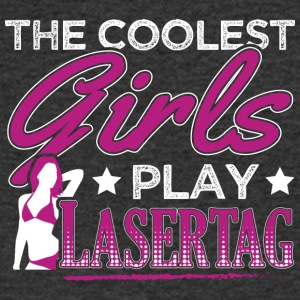 COOLEST GIRLS PLAY LASERTAG - Men's V-Neck T-Shirt