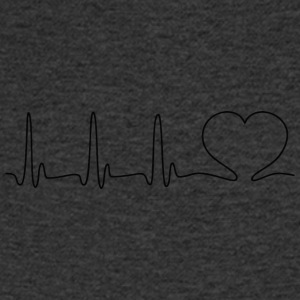 ECG HEART LINE black - Men's V-Neck T-Shirt