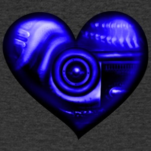 Heart biomechanics blue - Men's V-Neck T-Shirt