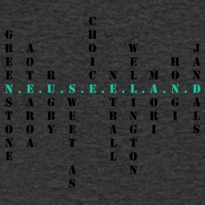 New Zealand Scrabble tuerkis - Men's V-Neck T-Shirt