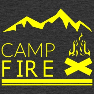 CAMP FIRE - Men's V-Neck T-Shirt