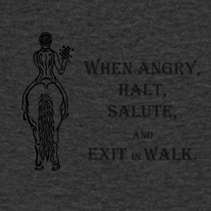 Halt salute and exit inn walk - Men's V-Neck T-Shirt