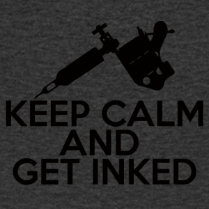 Tattoo / Tattoo: Keep Calm And Get Inked - T-shirt med v-ringning herr