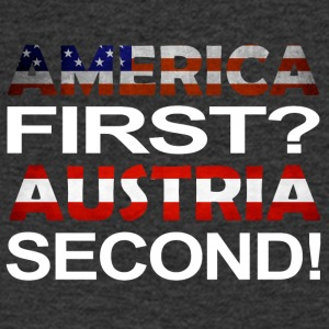 America First Østerrike second - T-skjorte med V-utsnitt for menn