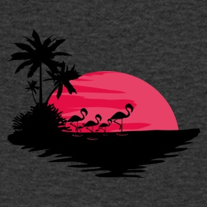 Red Sunset - Men's V-Neck T-Shirt