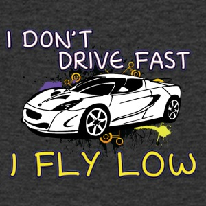 iI don t drive fast i fly low white - Men's V-Neck T-Shirt