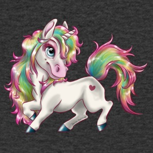 Unicorn Rainbow sky - Men's V-Neck T-Shirt