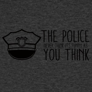 Polizei: The Police Never Think It´s Funny As You - Männer T-Shirt mit V-Ausschnitt