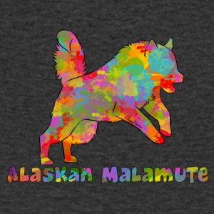 Alaskan Malamute Multicolored - Men's V-Neck T-Shirt