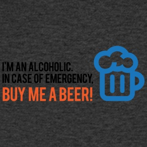 I'm An Alcoholic. For Emergencies I Have Beer! - Men's V-Neck T-Shirt