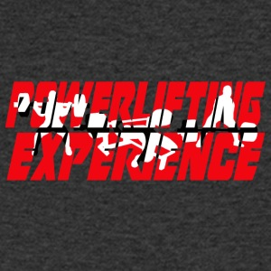 powerlifting EXPERIENCE - Men's V-Neck T-Shirt