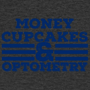 Opticians: Money, Cupcakes and Optometry - Men's V-Neck T-Shirt