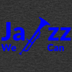 JAZZ we can - blue - Men's V-Neck T-Shirt