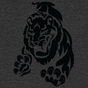 scary big lion black - Men's V-Neck T-Shirt