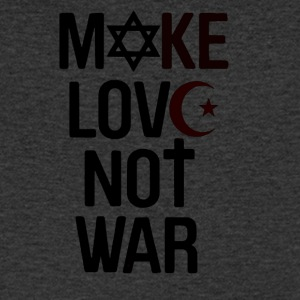 Make Love Not War - T-skjorte med V-utsnitt for menn