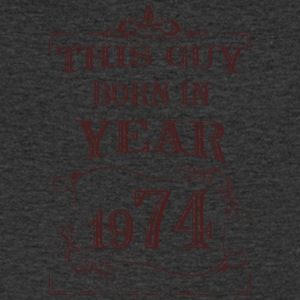 this guy born in year 1974 - Men's V-Neck T-Shirt