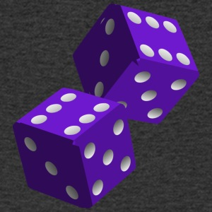 Purple Dice - Mannen T-shirt met V-hals