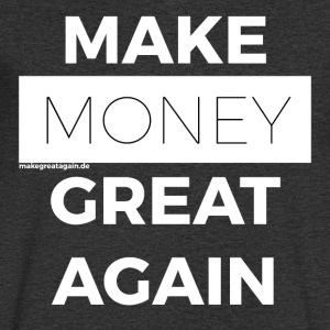 MAKE MONEY GREAT AGAIN white - Männer T-Shirt mit V-Ausschnitt